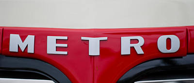 Close-up Of The Logo Of Metros Car Art Print by Panoramic Images