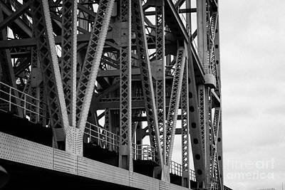 close up of the steel girders of the Broadway Bridge over the Harlem River new york city Art Print