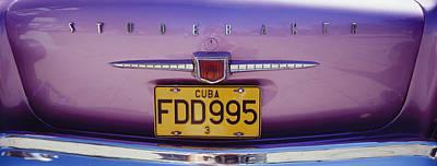 Close Up Of Vintage Car Rear Art Print