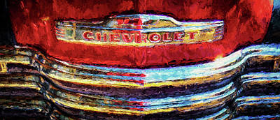 Pick Up Truck Photograph - Close-up Of Vintage Chevy Truck by Panoramic Images