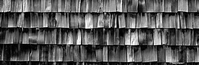 Close-up Of Wooden Shingle, La Conner Art Print