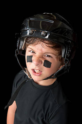 Youth Hockey Photograph - Close Up Of Young Hockey Player by Joe Belanger
