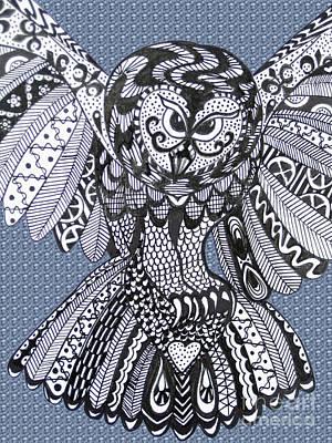 Close Up Owl Bubble Art Print