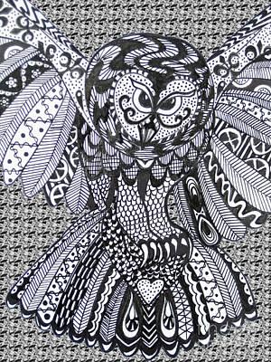 Close Up Owl Pattern Art Print