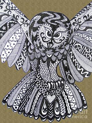 Close Up Owl Sand Art Print