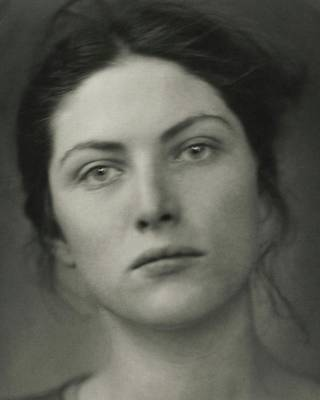 Writer Photograph - Close-up Portrait Of Winifred Lenihan by Edward Steichen