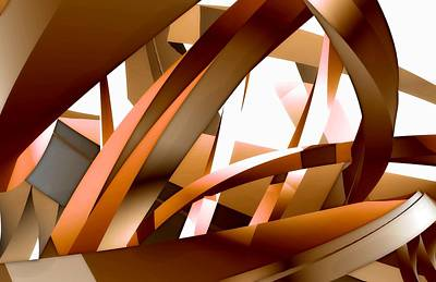 Close-up View Of An Abstract Design Art Print