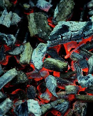 Barbecue Photograph - Close-up View Of Charcoal by Romulo Yanes