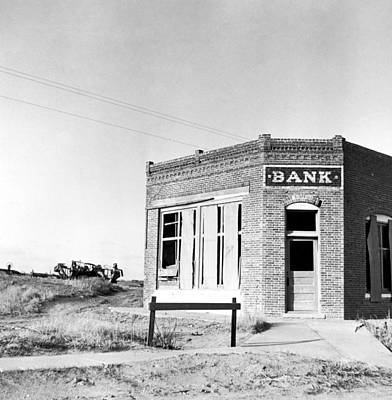 Photograph - Closed Bank, 1936 by Granger
