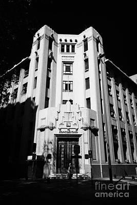 closed branch of banco estado the state bank Santiago Chile Art Print by Joe Fox
