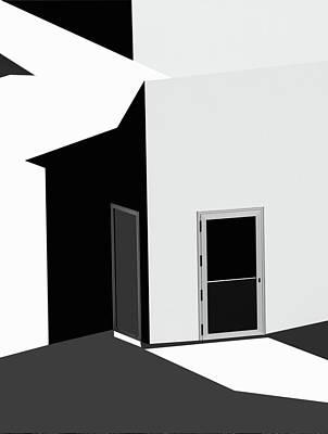 Shape Photograph - Closed Doors by Olavo Azevedo