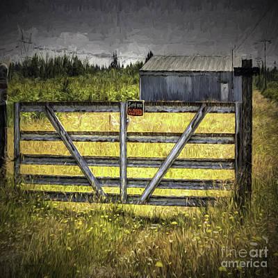 Photograph - Closed Down by Jean OKeeffe Macro Abundance Art