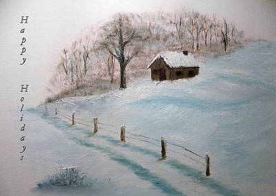 Painting - Closed For The Season - Happy Holidays by Peggy King