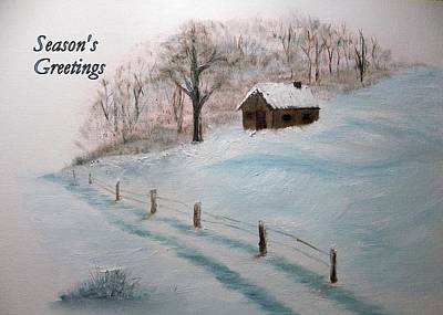 Painting - Closed For The Season - Season's Greetings by Peggy King