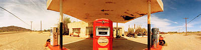 Oil Pump Photograph - Closed Gas Station, Route 66, Usa by Panoramic Images