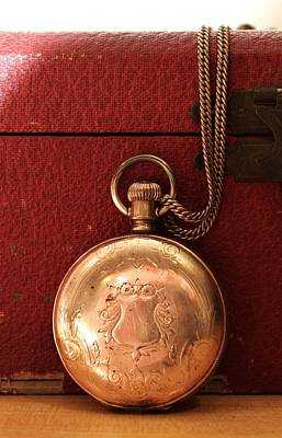 Photograph - Closed Pocket Watch by CJ Rhilinger