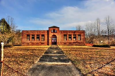 Closed School In Small Town Wv Art Print by Dan Friend