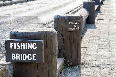 Baffling Photograph - Closed To Fishing by Nicholas Blackwell