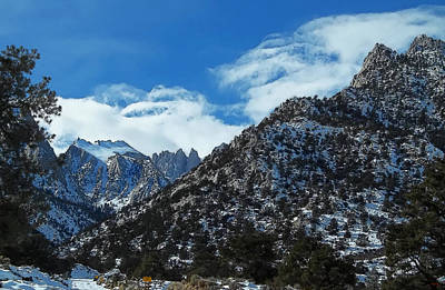 Photograph - Closed To Through Traffic  - Mount Whitney by Glenn McCarthy