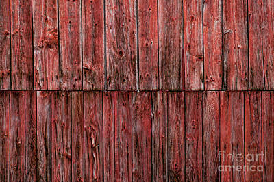 Photograph - Closeup Of A Weathered Red Barn. by Don Landwehrle