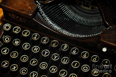 Typewriter Keys Photograph - Closeup Of Antique Typewriter by Amy Cicconi
