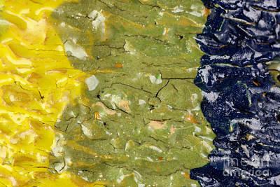 Closeup Of Glazed Ceramics Art Print by Kerstin Ivarsson