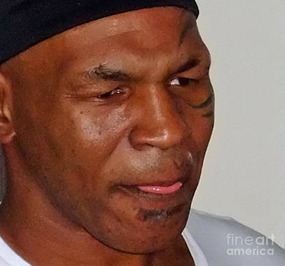 Photograph - Closeup Of Mike Tyson At Mancave Memorabilia  by Jim Fitzpatrick
