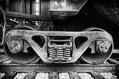 Photograph - Closeup Of Train Wheels by Danny Hooks