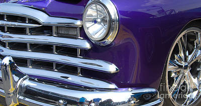 Photograph - Closeup Purple Grill by Mark Spearman