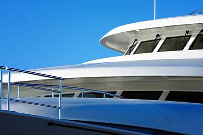Photograph - Closeup Super Yacht. by Jan Brons