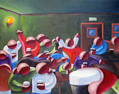Painting - Closing Time Buddies by Olivier Longuet
