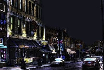 Memphis - Night - Closing Time On Beale Street Art Print