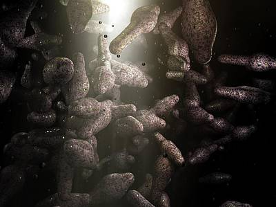 Clostridium Bacteria Art Print