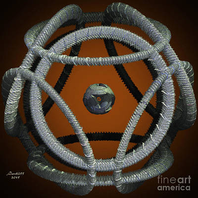 Digital Art - Cloth Spheres by Melissa Messick