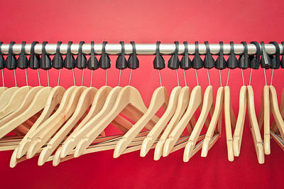 Coat Hanger Photograph - Clothes Hangers by Tom Gowanlock