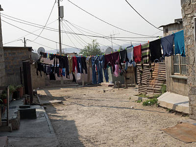 Alexandra Photograph - Clothes Hanging Outside Houses by Panoramic Images