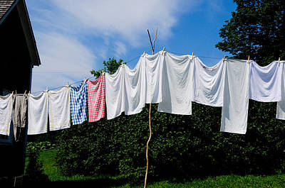 Photograph - Clothes Line by Bonnie Fink