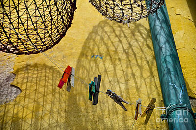 Clothesline And Fish Traps Art Print
