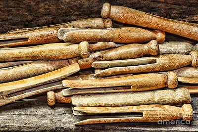 Clothespins Art Print by Paul Ward