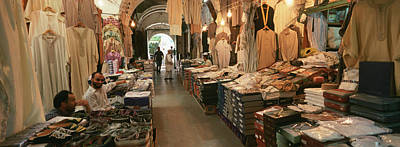 Libya Photograph - Clothing Stores In A Market, Souk by Panoramic Images