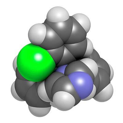 Molecule Photograph - Clotrimazole Antifungal Drug Molecule by Molekuul