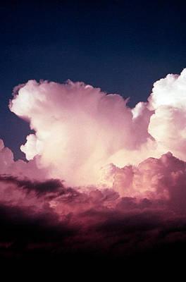 Photograph - Sunlit Storm Cloud by Jim Cotton