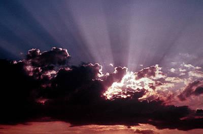 Photograph - Dramatic Sunset by Jim Cotton