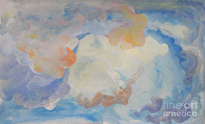 Painting - Cloud Abstract 2 by Anne Cameron Cutri