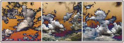 Photograph - Cloud Abstract In Triptych by Glenn McCarthy Art and Photography
