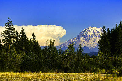 Photograph - Cloud Advancing On Mt. Rainer by Ron Roberts