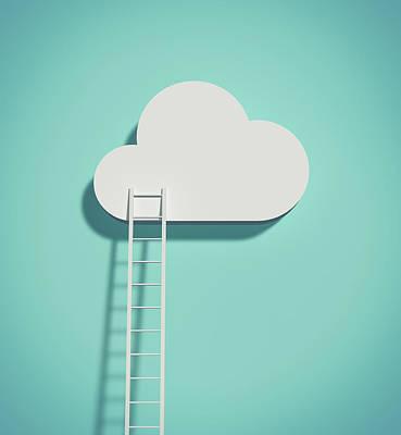 Cloud And Ladder Art Print by Yagi Studio