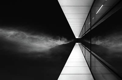 Glass Wall Photograph - Cloud Attack by Jeroen Van De