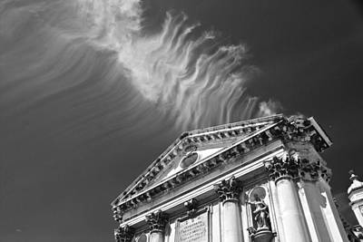 Photograph - Cloud Blesses Church by Eric Tressler