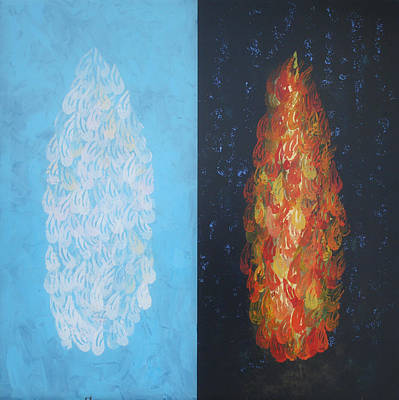Painting - Cloud By Day Fire By Night by Mordecai Colodner
